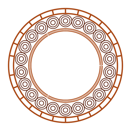 円形レース マンダラ スタイル ベクトル イラスト デザイン