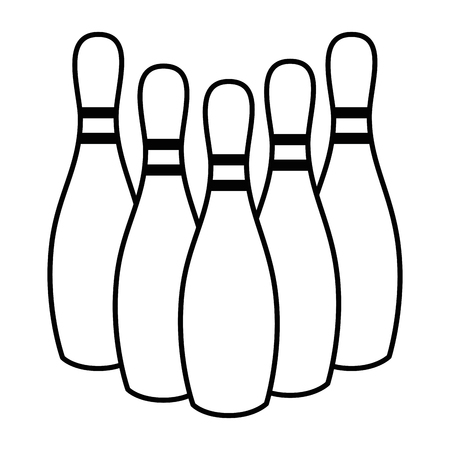 bowling pins icon over white background vector illustration Zdjęcie Seryjne - 80090008