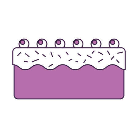 sweet and delicious cake vector illustration design
