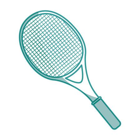 sportive: tennis racket icon over white background vector illustration Illustration
