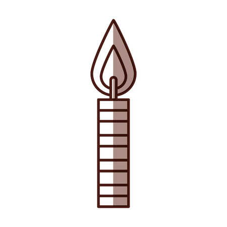 birthday candles isolated icon vector illustration design