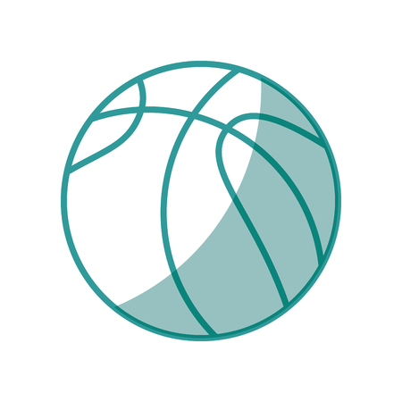 basketball ball icon over white background vector illustration