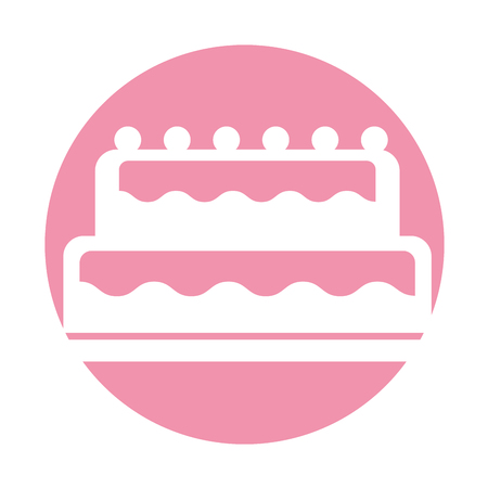 calorie: sweet and delicious cake vector illustration design