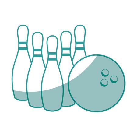 ボウリングのピン、白い背景の上のボールのアイコン ベクトル イラスト  イラスト・ベクター素材