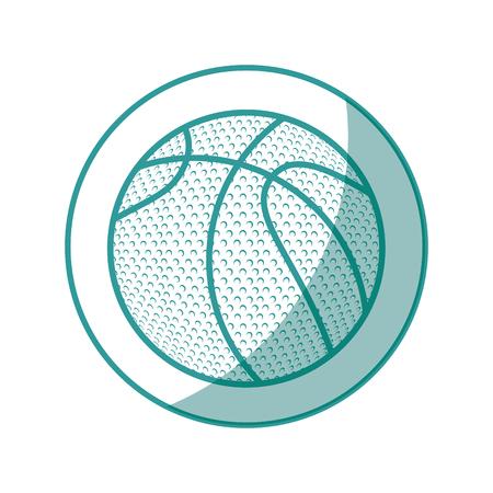 白い背景のベクトル図をバスケット ボールのボールのアイコン