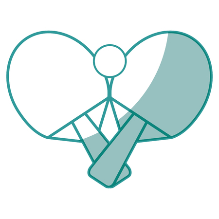 ping pong ball and rackets icon over white background vector illustration