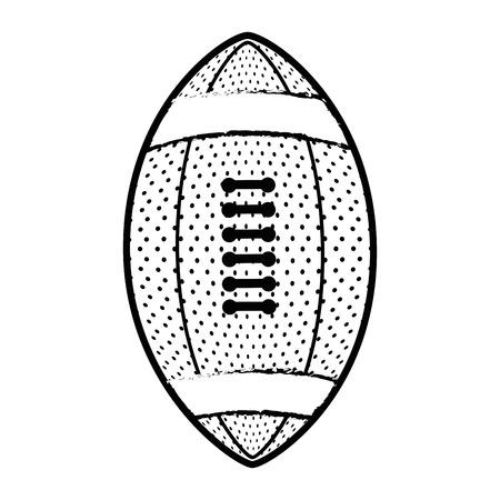 白い背景のベクトル図にアメリカン フットボールのボールのアイコン