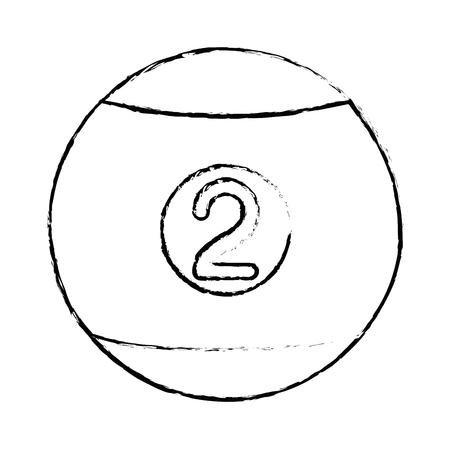 白い背景のベクトル図にビリヤードのボールのアイコン  イラスト・ベクター素材