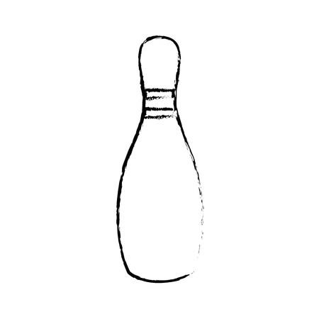bowling pin icon over white background vector illustration