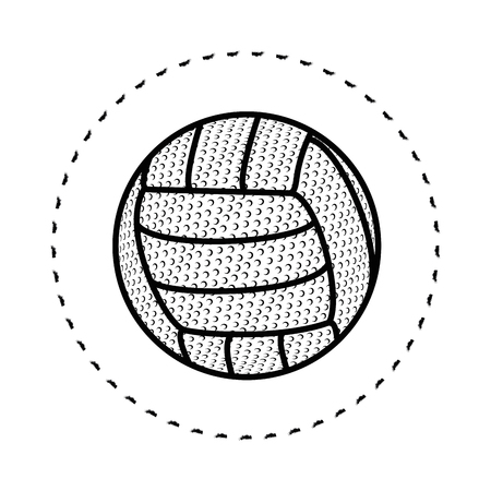 volleyball ball icon over white background vector illustration 向量圖像