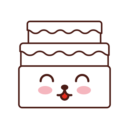 calorie: sweet and delicious cake   character vector illustration design
