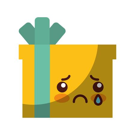giftbox present   character vector illustration design