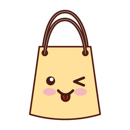 Paper gift bag character vector illustration design