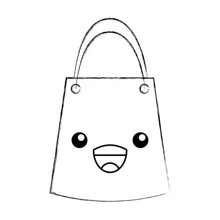paper gift bag kawaii character vector illustration design Illustration