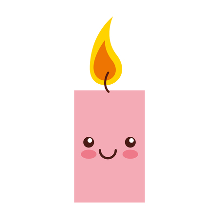 aroma therapy candle spa kawaii character vector illustration design