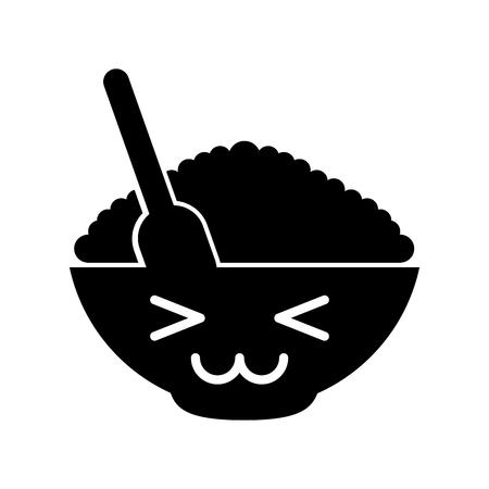 Graan Kawaii karakter vector illustratie ontwerp