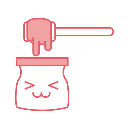 honey stick kawaii character vector illustration design Illusztráció