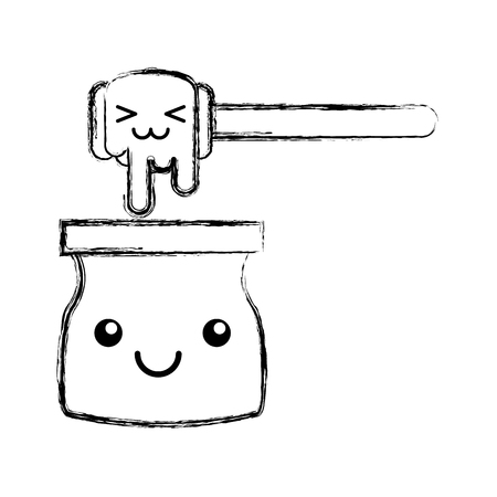 honey stick kawaii character vector illustration design Illustration