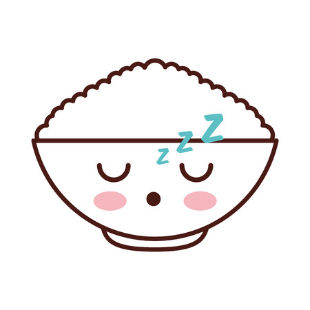 cereal dish kawaii character vector illustration design 向量圖像