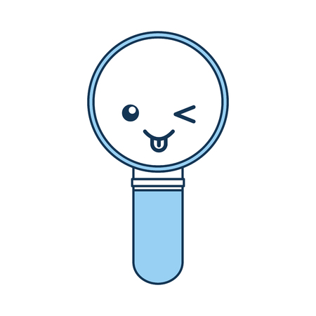 inspect: search magnifying glass character vector illustration design