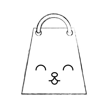 paper shopping bag  character vector illustration design Stock Vector - 80110695