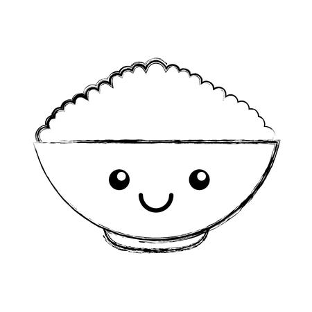 cereal dish kawaii character vector illustration design Ilustrace