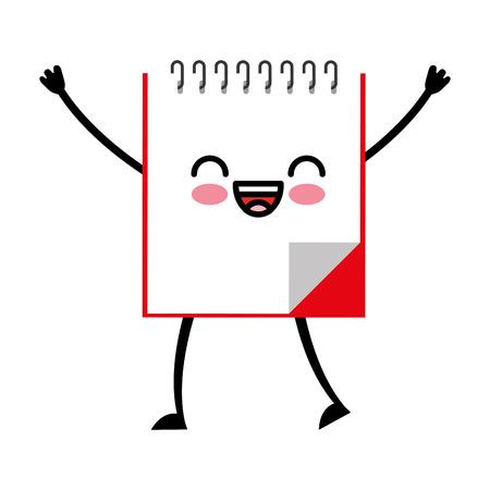 note book kawaii character vector illustration design Illustration