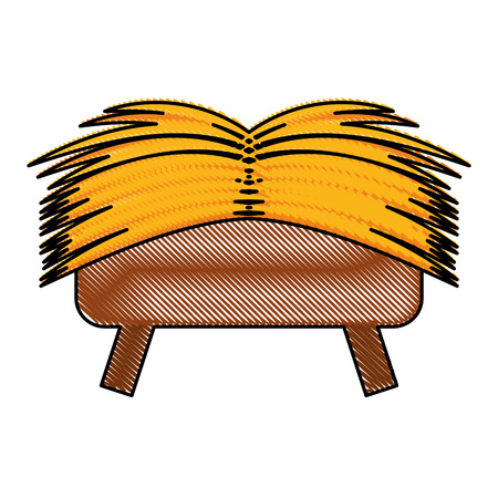 Vector de illustratieontwerp van het striewieg geïsoleerd pictogram