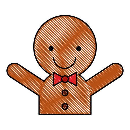Ingwer Cookie Weihnachten Symbol Vektor-Illustration Design Standard-Bild - 80090751
