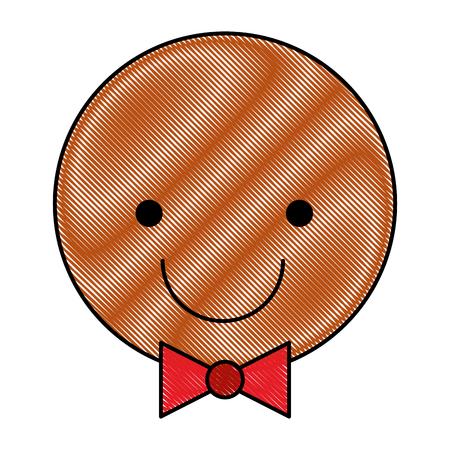 Ingwer Cookie Weihnachten Symbol Vektor-Illustration Design Standard-Bild - 80090752