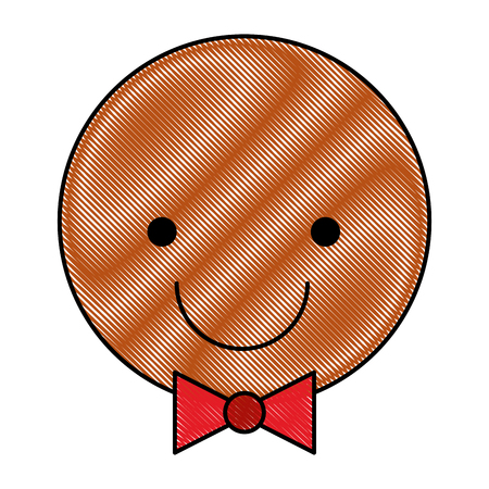 ginger cookie christmas icon vector illustration design Illustration
