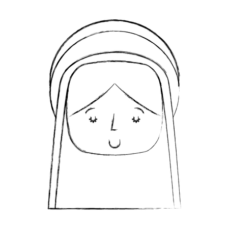 mary virgin manger character vector illustration design Ilustração