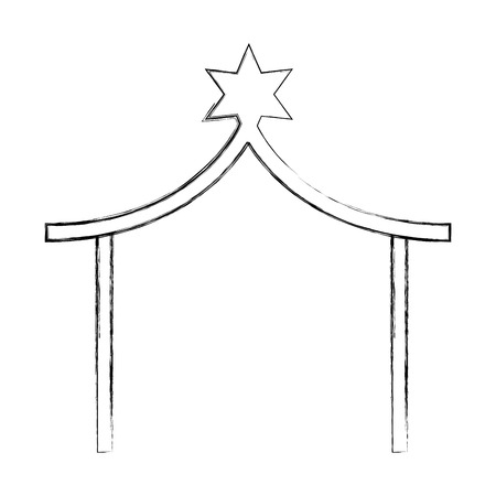 stable manger isolated icon vector illustration design Ilustrace