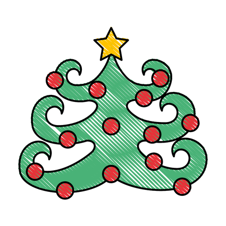detailed image: christmas tree isolated icon vector illustration design