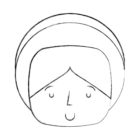 catholicism: saint joseph manger character vector illustration design Stock Photo