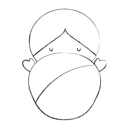 little cute baby icon vector illustration design Stock Photo