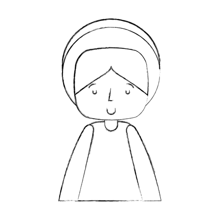 christian festival: saint joseph manger character vector illustration design Stock Photo