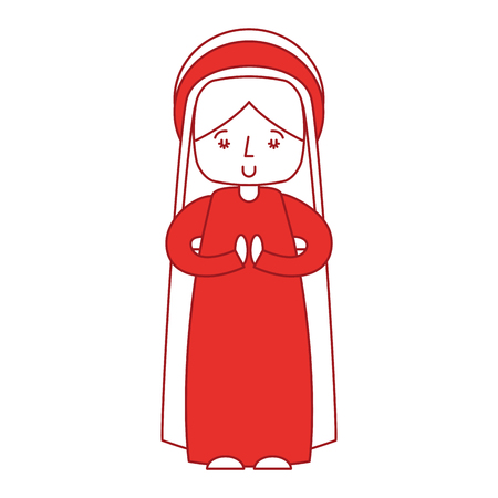 mary virgin manger character vector illustration design Illustration