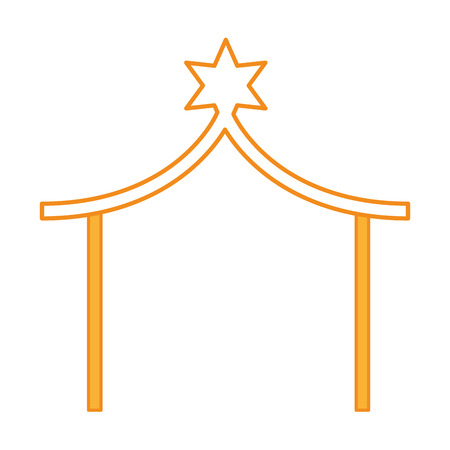 stable manger isolated icon vector illustration design 向量圖像