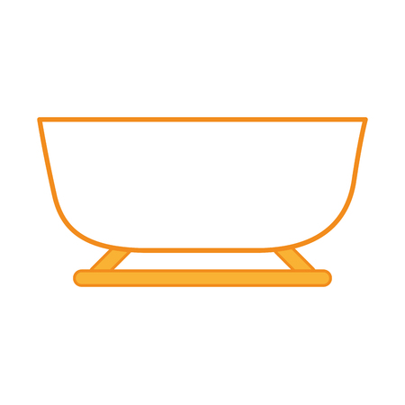 snow sled isolated icon vector illustration design
