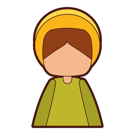 christian festival: saint joseph manger character vector illustration design Illustration