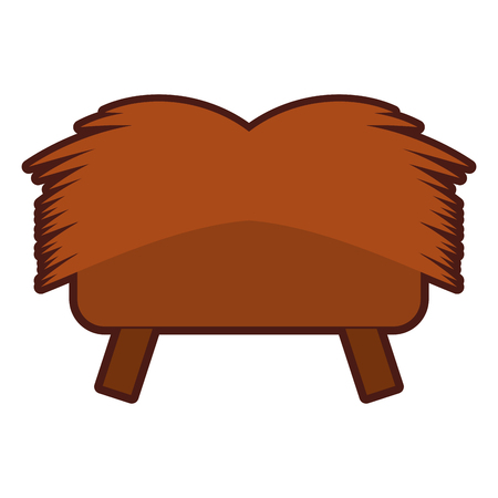 Straw cradle isolated icon vector illustration design Illustration