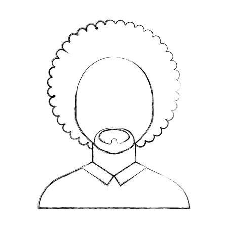 black man with afro vector illustration design 版權商用圖片 - 80090927