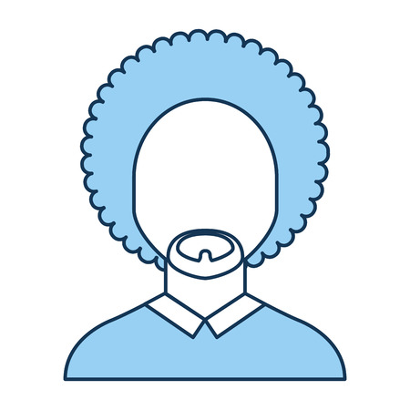 black man with afro vector illustration design