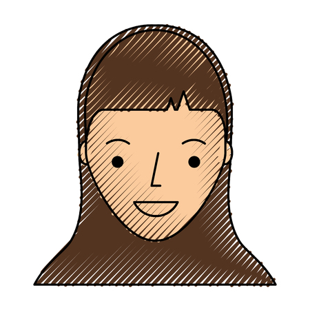 youngster: young woman avatar character vector illustration design Illustration