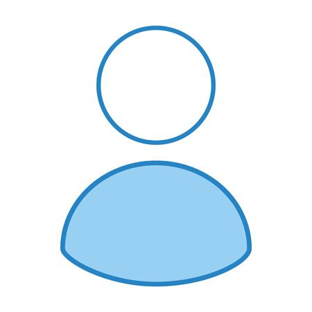 アバターのユーザー分離アイコン ベクトル イラスト デザイン