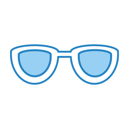 corrective: eye glasses isolated icon vector illustration design