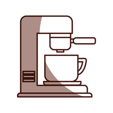 coffee machine isolated icon vector illustration design Illustration