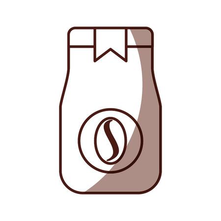 coffee toast bag icon vector illustration design Ilustração