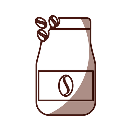 coffee toast bag icon vector illustration design Illustration